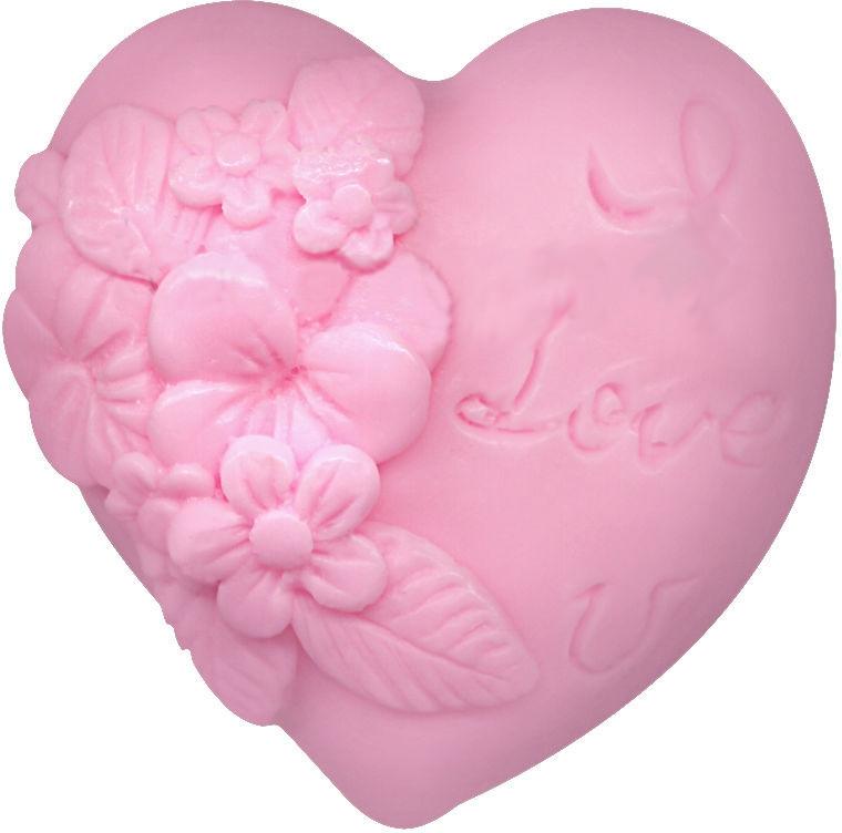"""Глицериновое мыло """"Влюбленное сердце"""", розовое - Bulgarian Rose Soap — фото N1"""