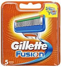 Сменные кассеты для бритья, 5 шт. - Gillette Fusion — фото N3