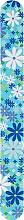Духи, Парфюмерия, косметика Пилка для ногтей, 2056, 17.8 см, голубая в цветы - Donegal