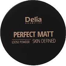 Духи, Парфюмерия, косметика Рассыпчатая пудра для лица - Delia Perfect Matt Loose Powder Skin Defined