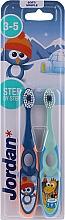Духи, Парфюмерия, косметика Детская зубная щетка, 3-5 лет синяя + зеленая - Jordan Step By Step Soft Clean