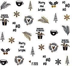 """Духи, Парфюмерия, косметика Водные наклейки для ногтей """"Рождество 2020"""" - Peggy Sage Christmas 2020 (1шт)"""