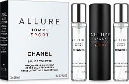 Духи, Парфюмерия, косметика Chanel Allure homme Sport - Набор (edt/20ml + refill/2x20ml)