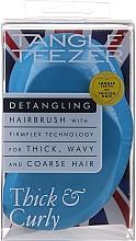 Духи, Парфюмерия, косметика Расческа для густых и вьющихся волос, голубая - Tangle Teezer Thick & Curly Azure Blue