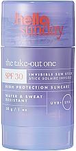 Духи, Парфюмерия, косметика Солнцезащитный стик для кожи лица и тела - Hello Sunday The Take-Out One Invisible Sun Stick SPF 30