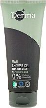 Духи, Парфюмерия, косметика Гель-шампунь для душа - Derma Man Body Face & Hair Shower Gel