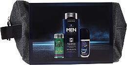 Духи, Парфюмерия, косметика Набор - Schwarzkopf Men (h/powder/10ml + shmp/250ml + deo/50ml + bag)