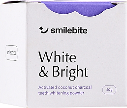 Духи, Парфюмерия, косметика Отбеливающий порошок для зубов с кокосовым углем - Smilebite White & Brigh Coconut Charcoal Teeth Whitening Powder