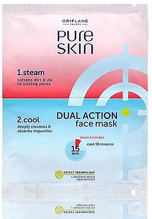 Двухшаговая маска-детокс для лица - Oriflame Pure Skin — фото N1