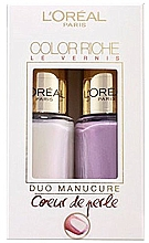 Духи, Парфюмерия, косметика Набор - L'Oreal Paris Color Riche Nail Polish (nail/polish/2x5ml)  (2 x 5 ml)