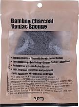 Духи, Парфюмерия, косметика Спонж-конняку с древесным углём - Purito Bamboo Charcoal Konjac Sponge