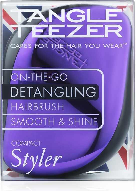 Компактная щетка для волос - Tangle Teezer Compact Styler Purple Dazzle Brush — фото N5