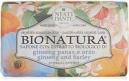 "Духи, Парфюмерия, косметика Мыло ""Женьшень и ячмень"" - Nesti Dante Bio Natura Ginseng & Barley Soap"