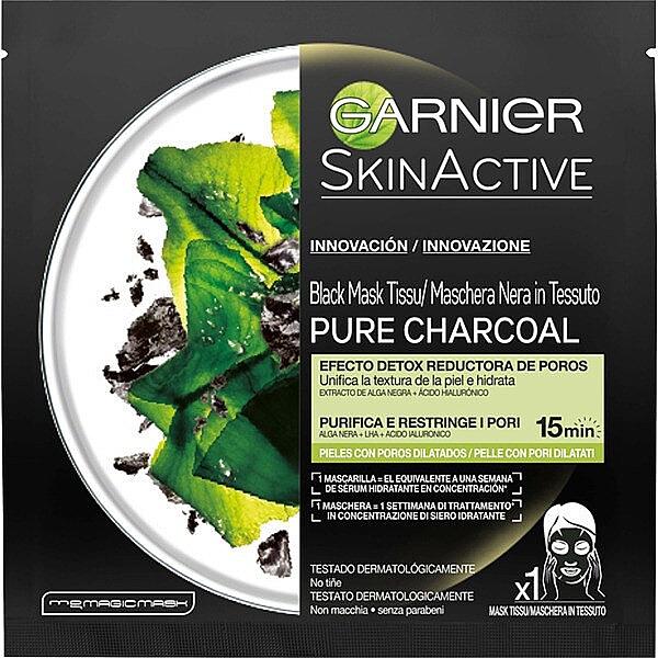 Тканевая маска для лица - Garnier Skin Active Pure Charcoal Mask — фото N1