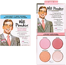 Духи, Парфюмерия, косметика Палетка румян для лица - theBalm Will Powder Blush Quad