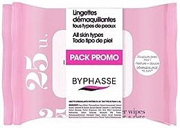 Духи, Парфюмерия, косметика Салфетки очищающие - Byphasse Make-up Remover Wipes Milk Proteins All Skin Types