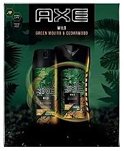 Духи, Парфюмерия, косметика Набор - Axe Wild Green Mojito & Cedarwood (deo/150ml + sh/gel/250ml)