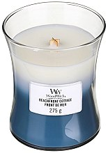 Духи, Парфюмерия, косметика Ароматическая свеча в стакане - WoodWick Hourglass Trilogy Candle Beachfront Cottage