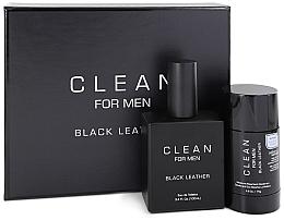 Набор - Clean Black Leather Men (edt/100ml + deo/75ml) — фото N1