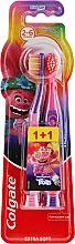 """Духи, Парфюмерия, косметика Детская зубная щетка """"Smiles"""", 2-6 лет, фиолетово-розовая, экстрамягкая - Colgate Smiles Kids"""