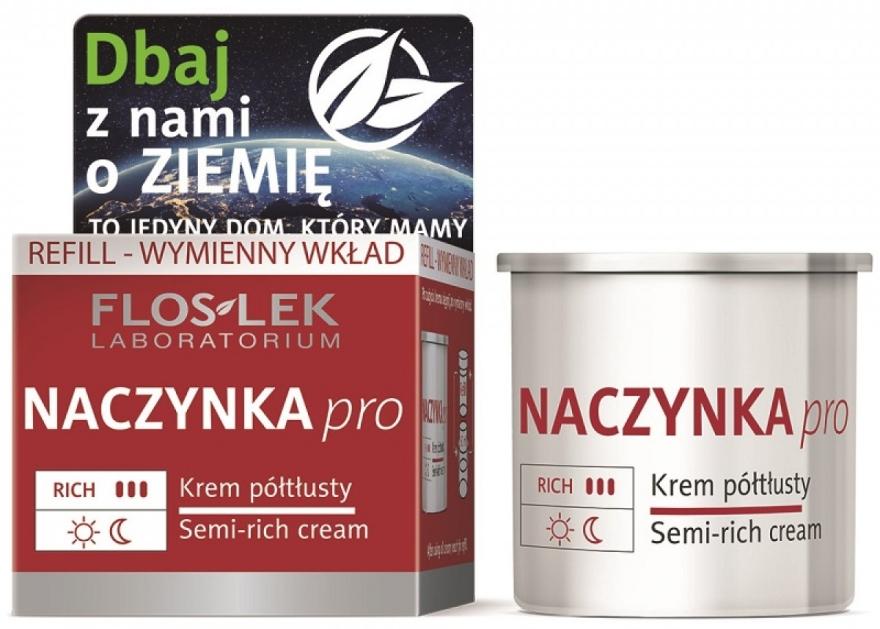 Полужирный крем для лица - Floslek Dilated Capillaries Semi-Rich Cream Refill (сменный блок) — фото N1