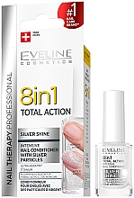 Духи, Парфюмерия, косметика Средство для восстановления ногтей 8в1 - Eveline Cosmetics 8in1 Silver Shine Nail Therapy