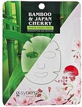 Духи, Парфюмерия, косметика Тканевая маска для лица - G-synergie Bamboo & Cherry White Face Mask