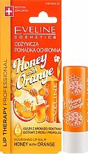 "Духи, Парфюмерия, косметика Бальзам для губ ""Мед и Апельсин"" - Eveline Cosmetics Lip Therapy Nourishing Lip Balm Honey And Orange"