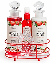 Духи, Парфюмерия, косметика Набор - IDC Institute Vintage Fruits (sh/g/240ml+b/lot/240ml+spray/120ml+soap/100g+massager)