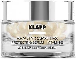 Духи, Парфюмерия, косметика Капсулы красоты с защитной сывороткой для лица - Klapp Beauty Capsules Protecting Serum + Vitamin E