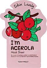 Духи, Парфюмерия, косметика Тканевая маска для лица - Tony Moly I'm Acerola Skin Lively Sheet Mask
