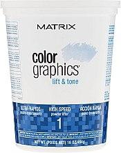 Духи, Парфюмерия, косметика Ультрабыстрая осветляющая пудра - Matrix Colorgraphics Lift & Tone Powder Lifter