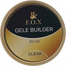 Духи, Парфюмерия, косметика Моделирующий гель-желе, прозрачный - F.O.X Gele Builder UV Clear