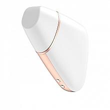 Вакуумный клиторальный стимулятор, белый - Satisfyer Love Triangle — фото N2