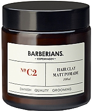 Духи, Парфюмерия, косметика Глиняная помада для волос - Barberians. №C2 Hair Clay Matt Pomade