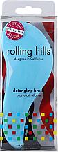 Духи, Парфюмерия, косметика Щётка для волос, голубая - Rolling Hills Detangling Brush Travel Size Sky Blue