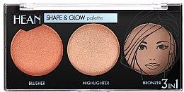 Духи, Парфюмерия, косметика Моделирующая палетка для макияжа - Hean Shape & Glow Palette