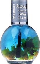 Духи, Парфюмерия, косметика Масло для ногтей и кутикулы с цветами - Silcare The Garden Of Colour Vanilla Sky Blue