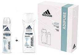 Духи, Парфюмерия, косметика Набор - Adidas Adipure Woman (deo/spray/150ml + sh/gel/250ml)