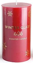 Духи, Парфюмерия, косметика Ароматическая свеча, красная, 7х8см - Artman Winter Glass