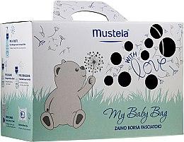 Духи, Парфюмерия, косметика Набор - Mustela My Baby Bag Set (water/300ml + gel/shm/200ml + f/cr/40ml + b/cr/50ml + wipes/25pcs + bag)