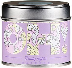 "Духи, Парфюмерия, косметика Ароматическая свеча ""Радуга"" - Oh!Tomi Fruity Lights Rainbow Candle"