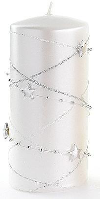 Декоративная свеча, белая, 7x14 см - Artman Christmas Garland — фото N1