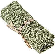 Духи, Парфюмерия, косметика Отшелушивающее нейлоновое полотенце для тела, зеленое - The Body Shop Body Polisher
