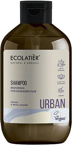 """Восстанавливающий шампунь для поврежденных волос """"Аргана и белый жасмин"""" - Ecolatier Urban Restoring Shampoo — фото N1"""