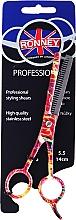Духи, Парфюмерия, косметика Ножницы филировочные, 5.5см - Ronney Professional Orange Neon