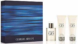 Духи, Парфюмерия, косметика Giorgio Armani Acqua Di Gio Pour Homme - Набор (edt/50ml + sh/gel/75ml + ash/balm/75ml)