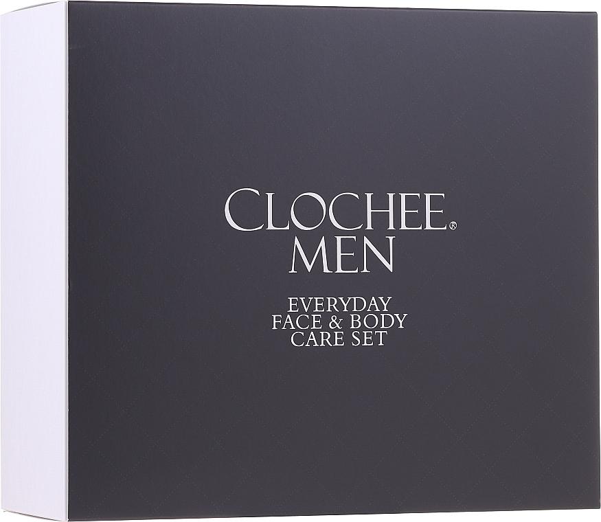 Набор - Clochee Men Facial & Body Skin Care Set (f/cr/50ml + show/gel/250ml + bag) — фото N1