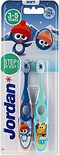Духи, Парфюмерия, косметика Детская зубная щетка, 3-5 лет, синяя+голубая - Jordan Step By Step Soft Clean
