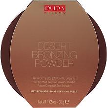 Духи, Парфюмерия, косметика Компактная пудра с бронзирующим эффектом - Pupa Desert Bronzing Powder